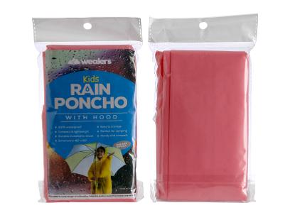 Wealers' kids red rain poncho