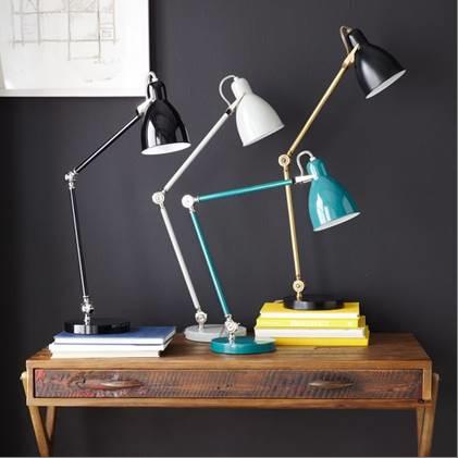 Recalled West Elm Industrial Task table lamps