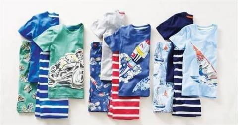 Mini Boden boys' pajamas with shorts and top
