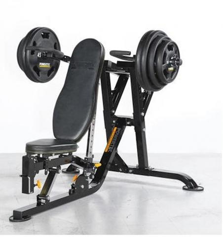 matted powertec fitnesszone wb product bench yellow workbench full weight system black finish yy ms multi