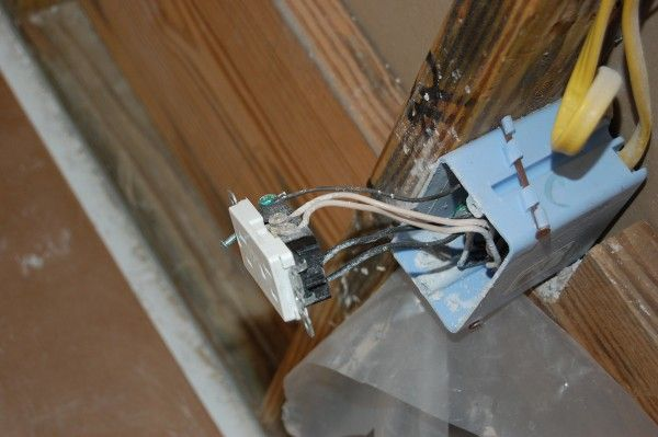 Picture of corroded wiring