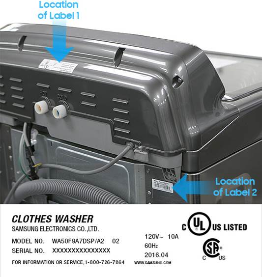 samsung washing machine recall refund