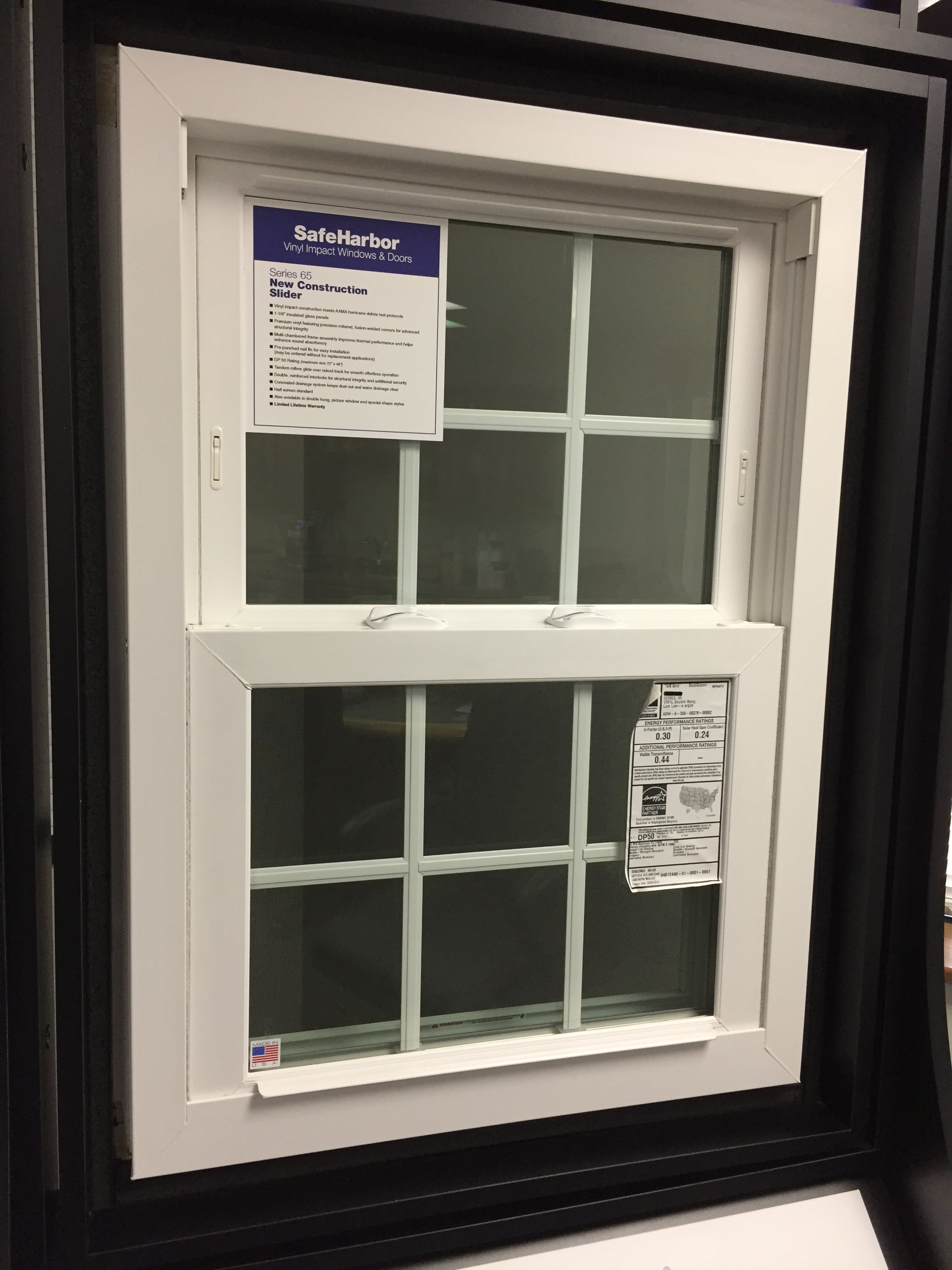 SafeHarbor Series 65 vinyl impact window