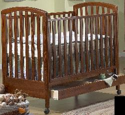 Click For Larger Image of Recalled Nina Pine Model Number 710 Crib