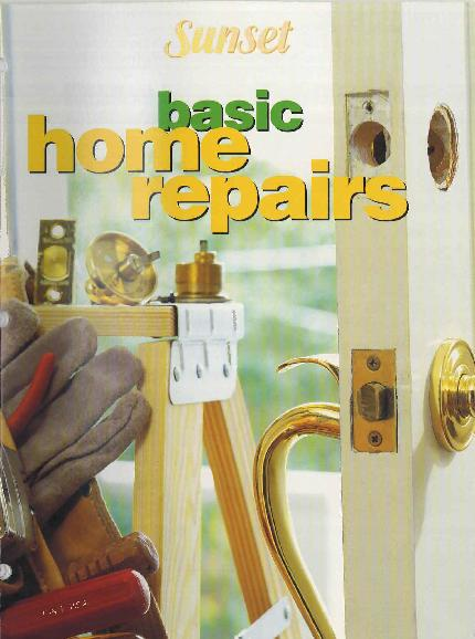 Picture of Sunset Basic Home Repairs Recalled Home Improvement Book