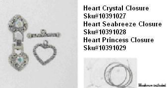 Picture of Recalled Heart Crystal Closure SKU# 10391027, Picture of Recalled Heart Seabreeze Closure SKU# 10391028, Picture of Recalled Heart Princess Closure SKU# 10391029