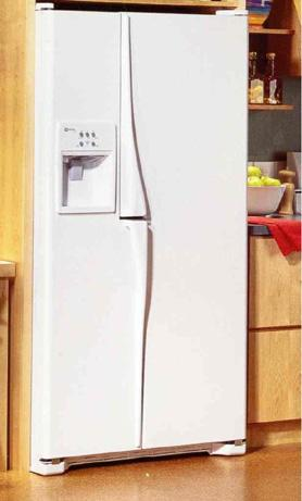 Picture of Recalled Side by Side model Refrigerator