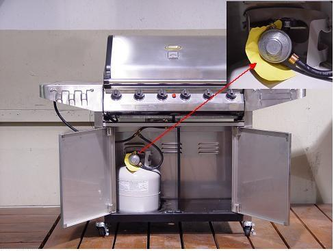 Picture of Recalled Gas Grill Model 6000