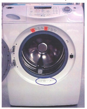 Picture of Recalled Washing Machine
