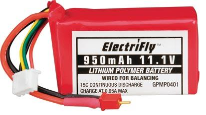 Picture of Recalled Battery Used In Radio-Controlled Helicopter Kits