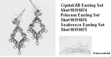 Picture of Recalled Crystal/AB Earring Set SKU# 10391074, Picture of Recalled Princess Earring Set SKU# 10391076, Picture of Recalled Seabreeze Earring Set SKU# 10391075