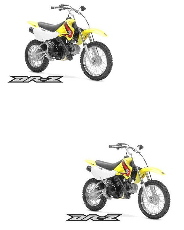 Picture of Recalled Suzuki DR-Z110K5 Off-Road Motorcycle