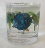 Picture of Tumbler with Blue Roses & Leaves, Model #805-11