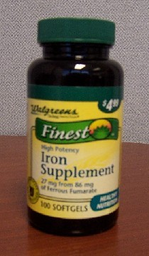 Picture of Recalled Iron Supplement