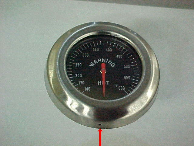 Picture of New temperature gauge with a vent hole