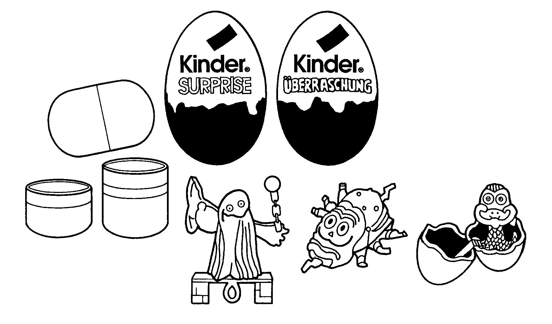 Kinder Chocolate Eggs Containing Toys