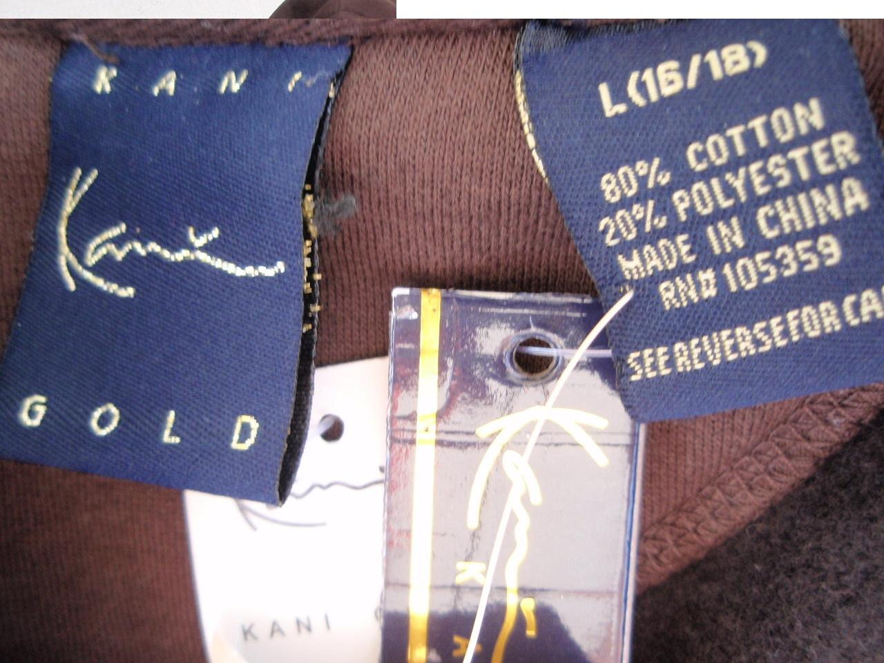 Recalled Kani Gold jacket label