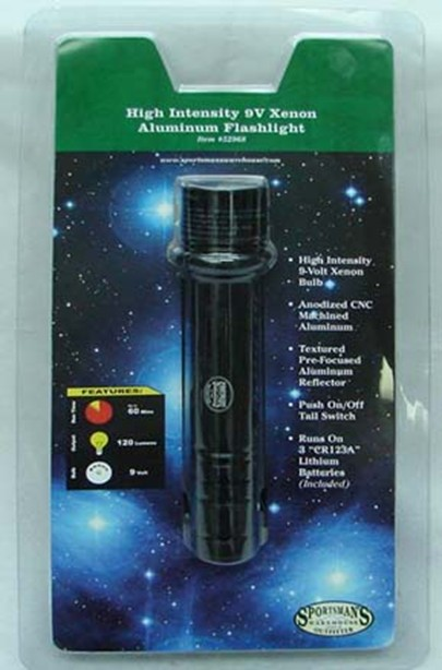 Picture of Recalled Xenon Aluminum Flashlights