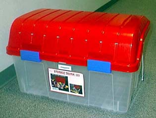 Picture of plastic toy storage chest