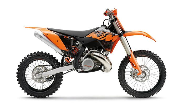 Picture of Recalled 250 XC W and 300 XC W off-road motorcycle