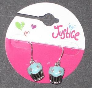 Picture of Justice Cupcake Earrings (Light Blue) Style #5759