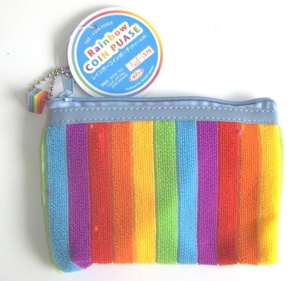 Picture of Recalled children's purse with rainbow stripes