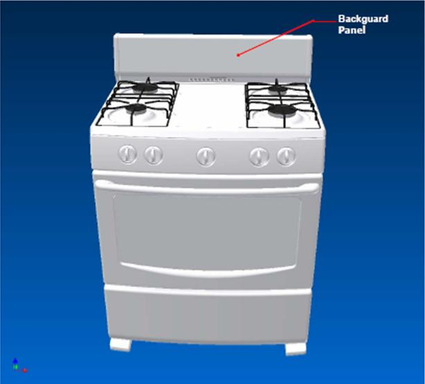 Picture of Recalled Gas Range