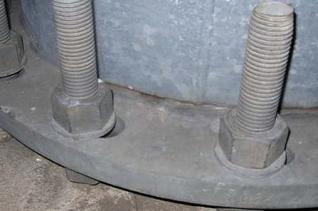 Picture of Base plate of stadium light pole