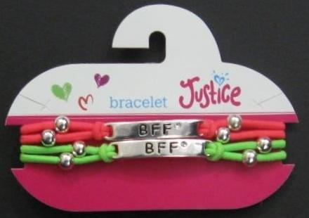 "Picture of Justice ""BFF"" Bracelet Style #3609"