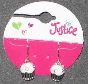 Picture of Justice Cupcake Earrings (White) Style #5469