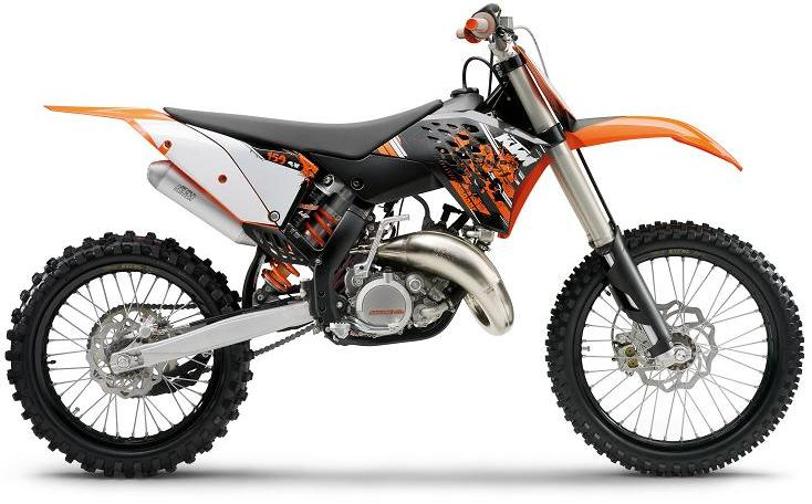Picture of Recalled 125 SX and 150 SX off-road motorcycle
