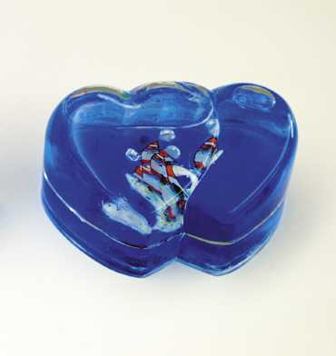 Picture of Recalled Double Heart Paperweight