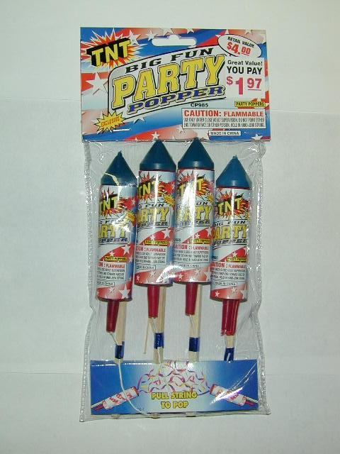 Picture of Recalled Party Poppers