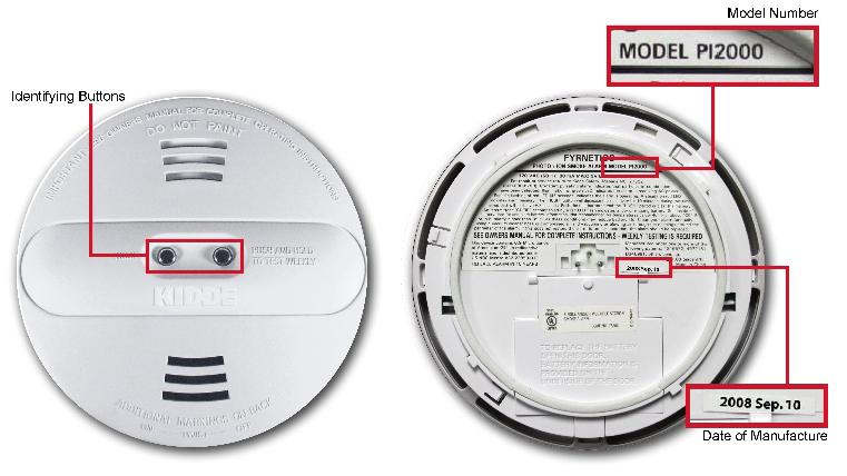 Picture of Recalled Smoke Alarm