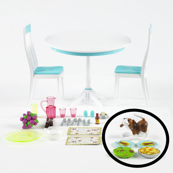 barbie table and chairs kitchen playset k8606