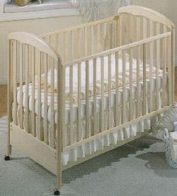 Click For Larger Image of Recalled Silver Model Number 485 Crib