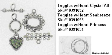 Picture of Recalled Toggles w/Heart Crystal AB SKU# 10391052, Picture of Recalled Toggles w/ Heart Seabreeze SKU# 10391053, Picture of Recalled Toggles w/ Heart Princess SKU# 10391054