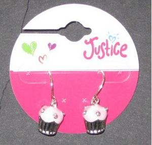Picture of Justice Cupcake Earrings (Light Pink) Style #5758