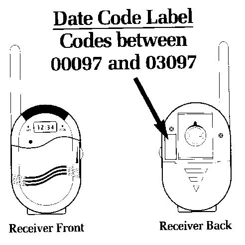 Date Code Label on Safety 1st Monitors