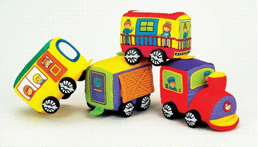 Picture of Recalled IQ Baby Travelin' Train Blocks