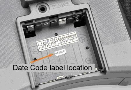 Picture of location of date code label