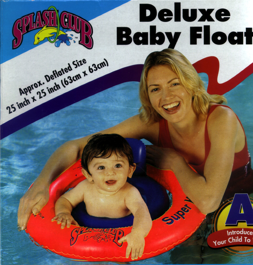 Picture of Inflatable Baby Float with Baby in the Float and Mom in Back