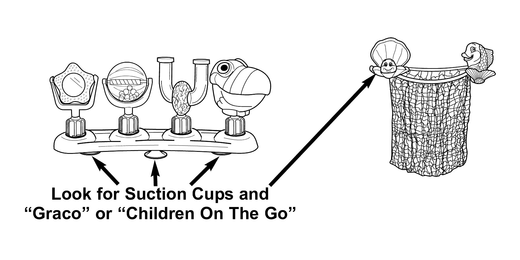 Drawing of Activity Tray with Suction Cups