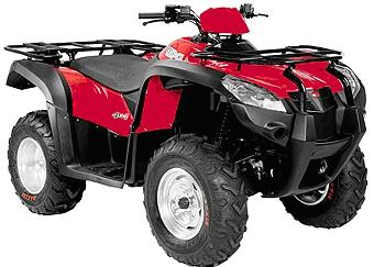 Picture of Recalled KYMCO MXU 500 All Terrain Vehicle