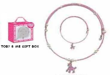 Picture of recalled TOBY & ME jewelry set