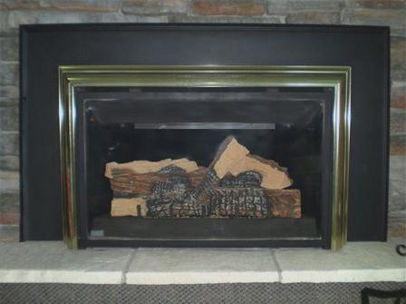 Picture of Recalled Propane Gas Fireplace Insert