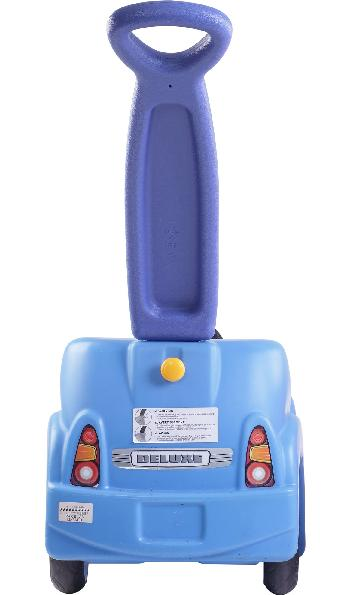 Picture of Rear of Recalled Whisper Ride Buggy showing yellow knob