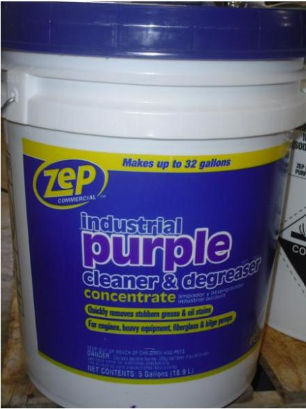 Picture of Recalled Zep Purple Cleaner & Degreaser