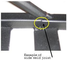 Picture of side weld joint