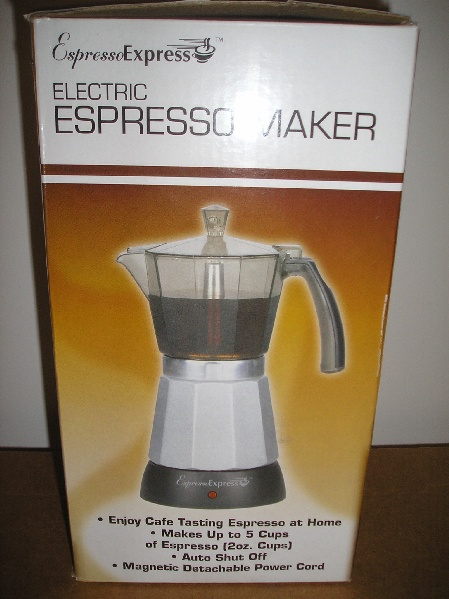 Picture of Recalled Espresso Maker Package